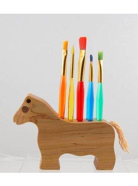Alain Mailhot - Sculpteur 1 Brush Holder - Horse