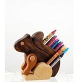 Alain Mailhot - Sculpteur Porte-crayon de cire - Écureuil