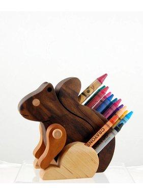 Alain Mailhot - Sculpteur 1 Porte-crayon de cire - Écureuil