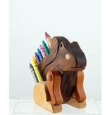 Alain Mailhot - Sculpteur Squirrel - Wax crayons holder