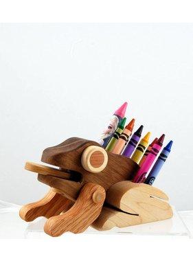 Alain Mailhot - Sculpteur 1 Frog - Wax crayons holder
