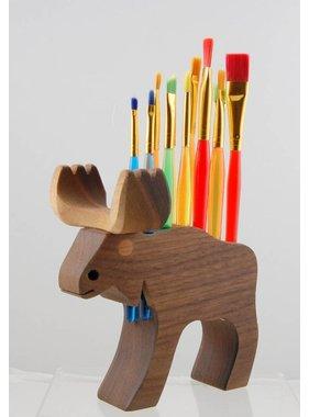 Alain Mailhot - Sculpteur 1 Brush Holder - Moose