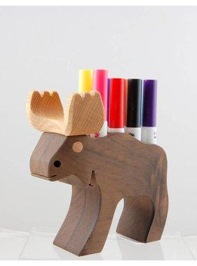 Alain Mailhot - Sculpteur 1 Felt pen holder - Moose