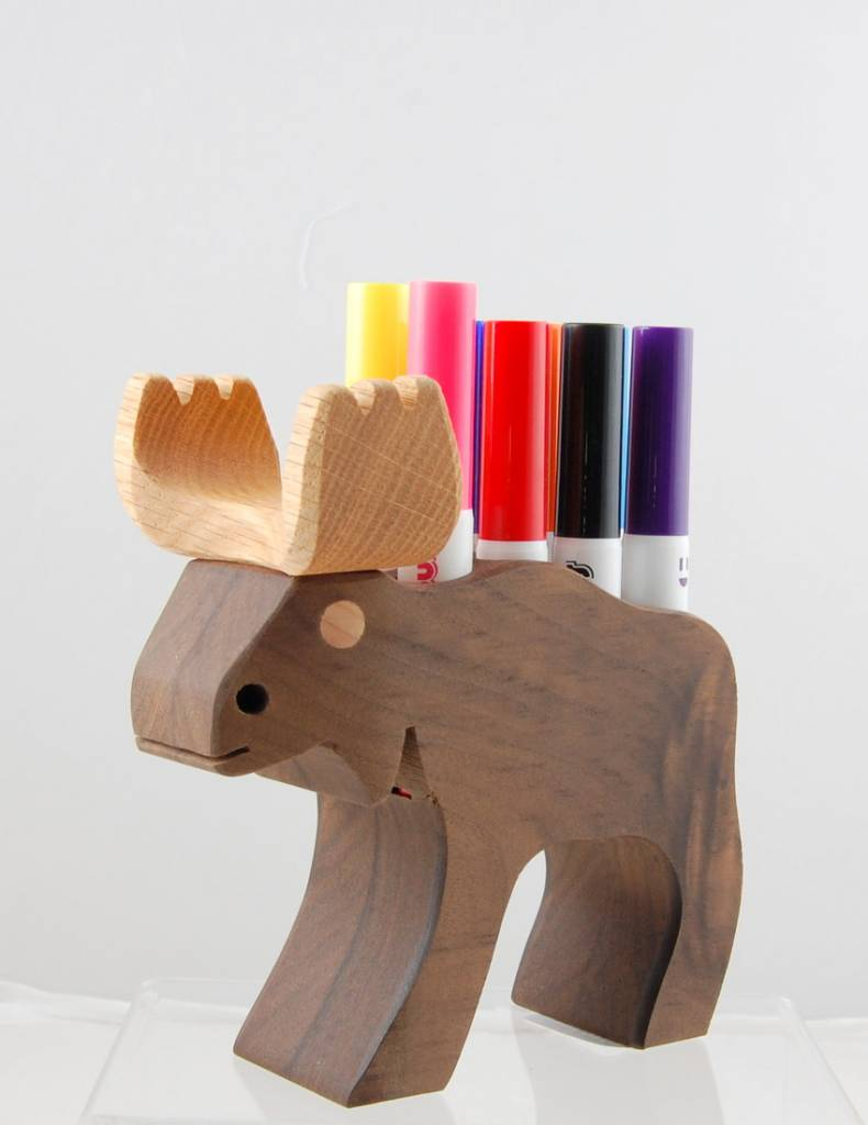 Alain Mailhot - Sculpteur Felt pen holder - Moose