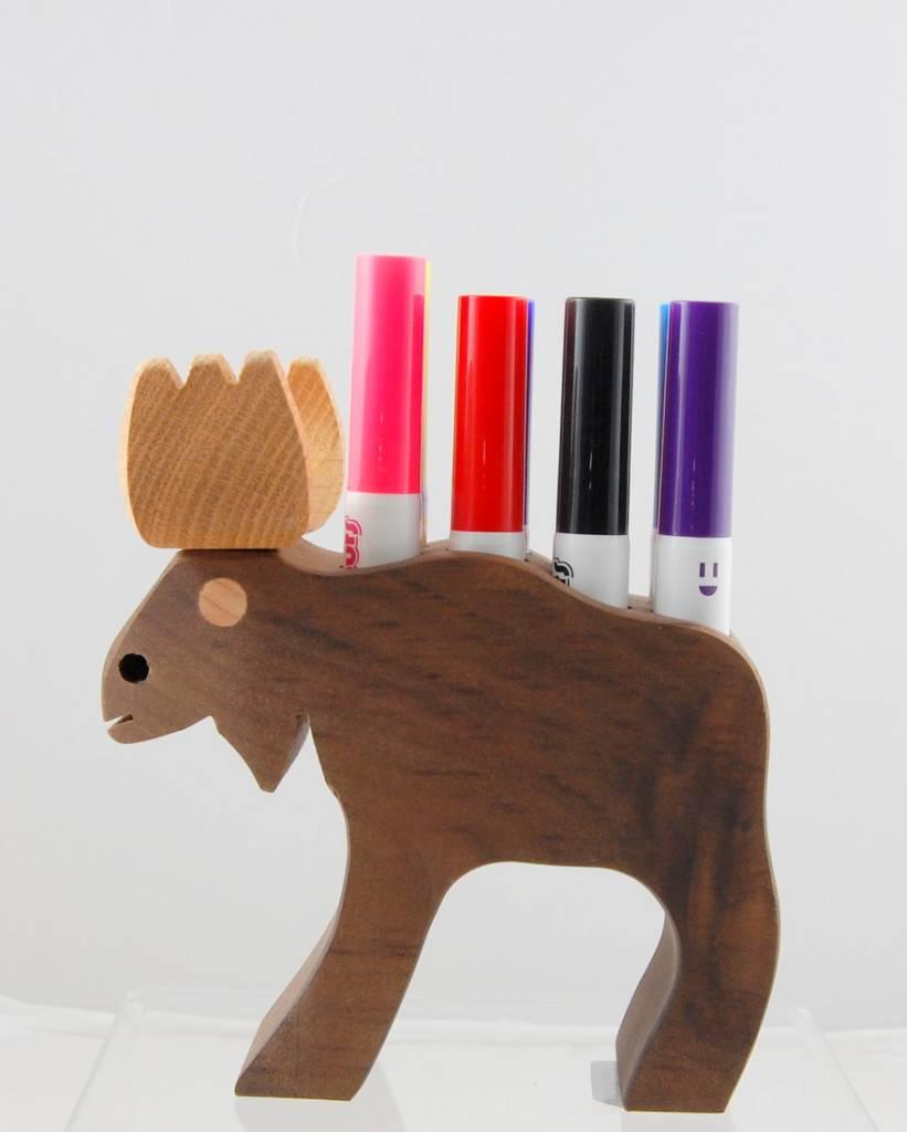Alain Mailhot - Sculpteur Porte-crayon feutre - Orignal