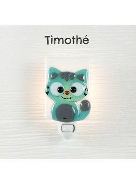 Veille sur toi Cat Nightlight - Tuquoise