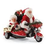 Père Noël en Harley avec la Mère Noël