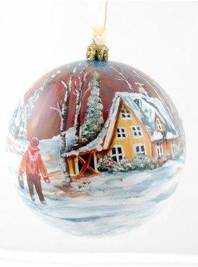 Ghislaine Bergeron Christmas ball hand painted # 01