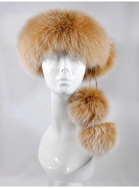 Headband fox Pom # 123 beige