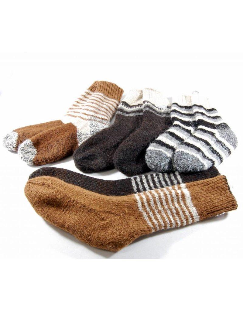 Bas doubles  et réversibles en laine d'Alpaga