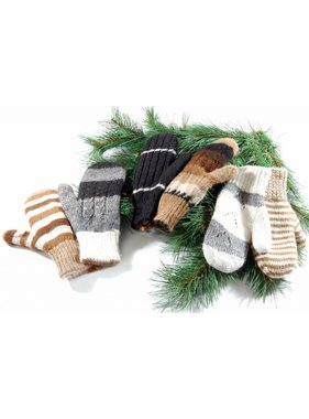 Alpaga PM 1 Double and reversible mittens 100% Alpaca wool