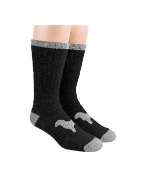 Alpaca DNA Heavy Thermal socks - 80% Alpaca Black