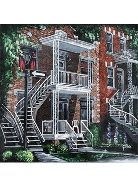 Gilles Blain Les belles escaliers rue Foucher10x10