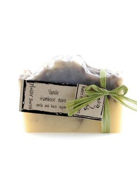 Sweet Pleasure Soap - Vanilla and Black Raspberry