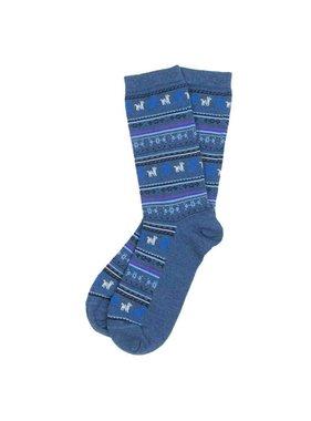 Chaussettes d'Alpaga Denim L-XL