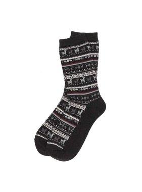 Alpaca Sock Black  S-M