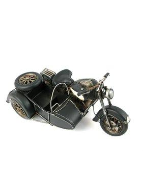 Moto et voiture latérale MTL.Noir
