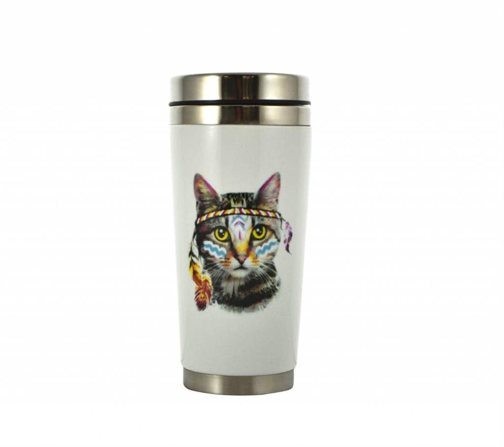 Grand thermos à café chat Indien 475ml 624-041