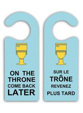 On the throne door hanger