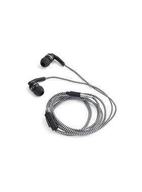 Braided Earbuds Black