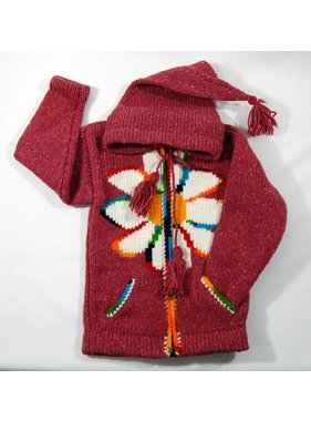Hand Knitted Jacket - Red