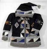 Veste tricotée à la main - Noir