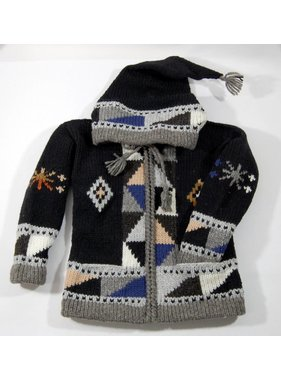 Hand-knitted jacket - Black