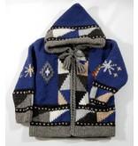 Veste tricotée à la main - Bleu