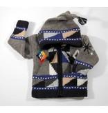 Veste tricotée à la main - Gris