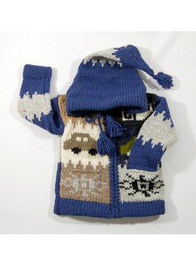 Alpaca TC Hand-knitted jacket - Car