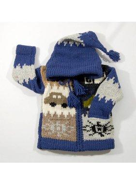 Alpaca TC Veste tricotée à la main - Auto