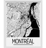 Carte de Montréal 11x14 - Noir et blanc