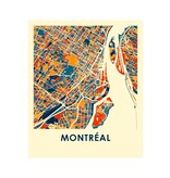 Carte Montréal 8 x 10
