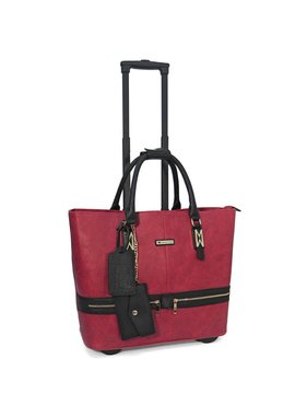Executive Rolling Briefcase - Red Zara Zippers