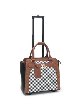 Executive Rolling Briefcase - Sally Stripe
