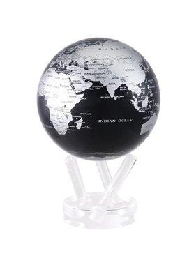 "1 Black Silver Globe 4.5"""