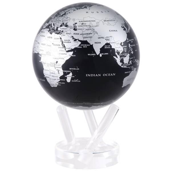 "Globe contemporain noir 4.5"""