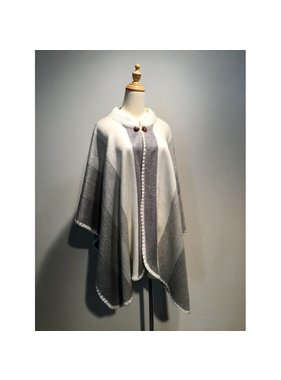 1 Alpaca wool poncho - Choice of color