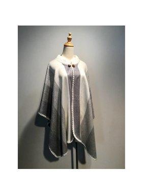 1 Poncho en laine d'Alpaga - Choix de couleur