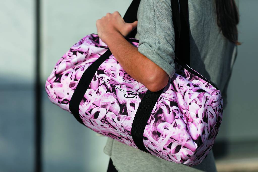 Forever B. Pointe Shoe Pattern Duffle Bag