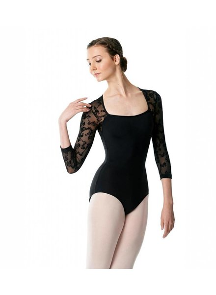 Lulli Albertine Flower Mesh Leotard