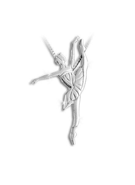 Mikelart Dancer Jewel Developpé Silver Necklace