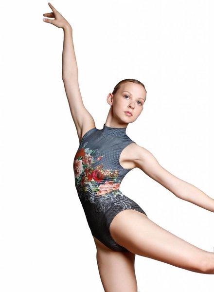 Ballet Rosa Romane Mock Turtle Neck Zip Leotard