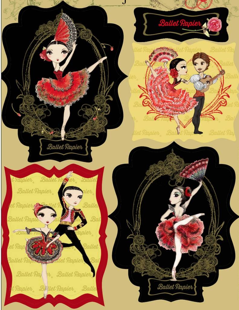 Ballet Papier Vinyl Stickers