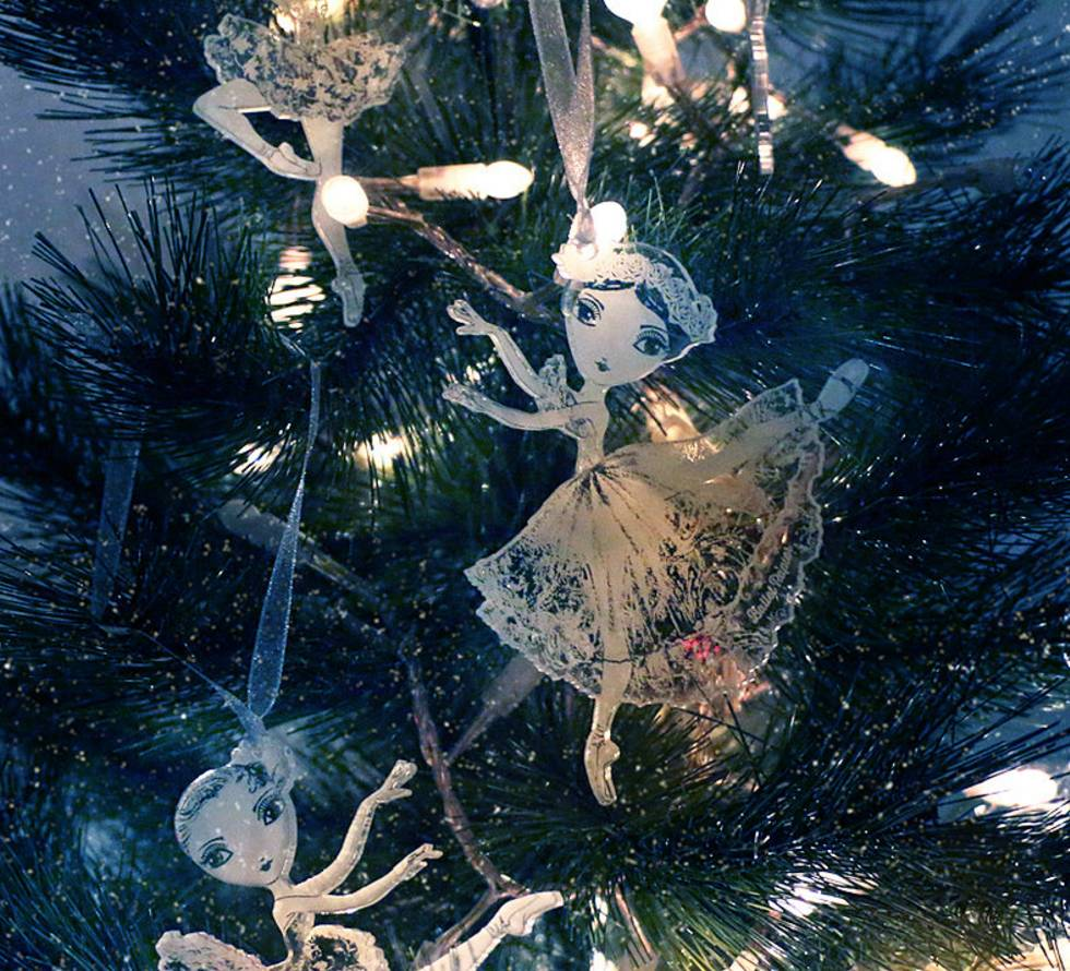 Ballet Papier Small Crystal Hanging Ornaments