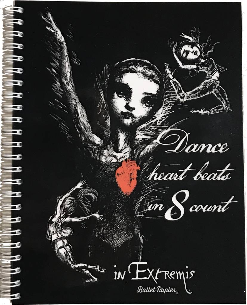 Ballet Papier Dance Heart Beats in 8 Counts Notebook
