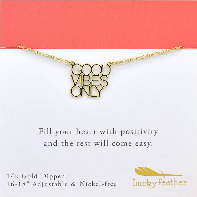 Lucky Feather Strong and Sassy Necklace