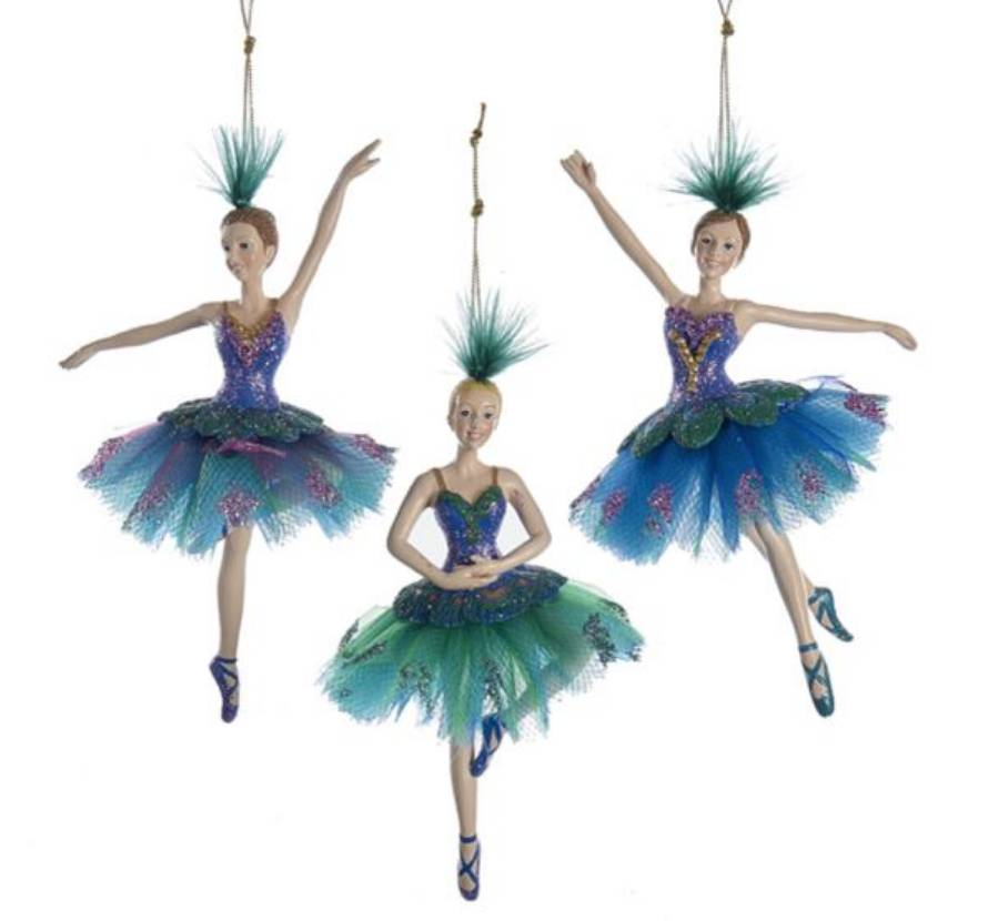 Peacock Ballerina Ornament