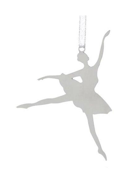 Metal Silhouette Ballerina Ornament