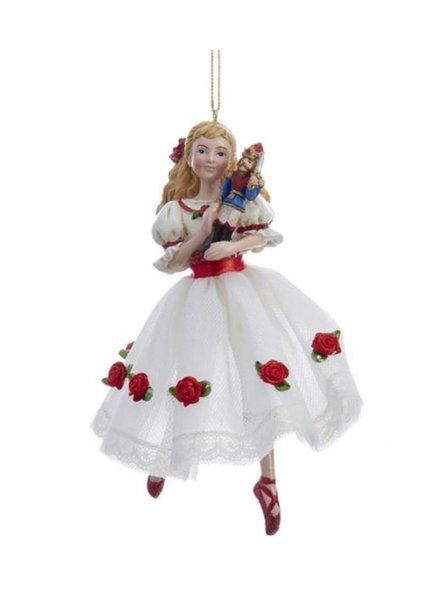 Clara in a White Dress Ornament